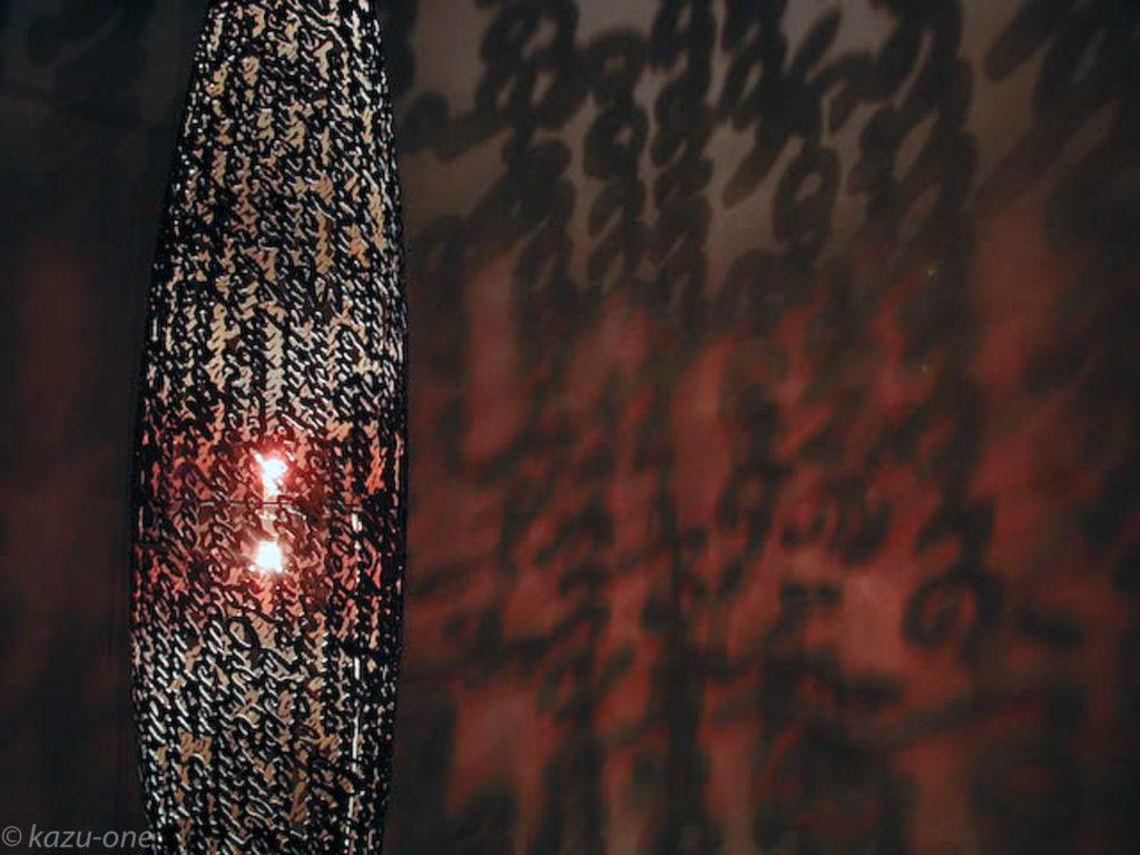 04 Untitled /素材:鉄、洋箔、ライト、CD-R