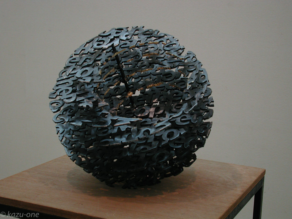 05Untitled#01/ 素材: 鉄,洋箔/直径400mm