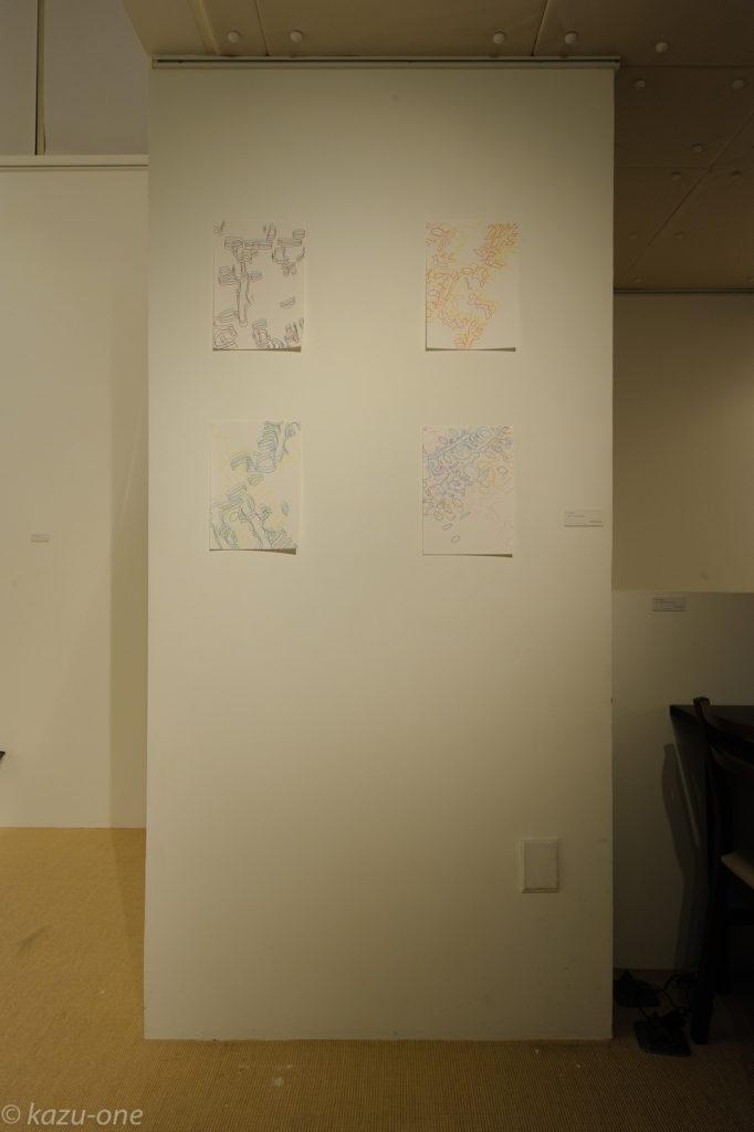 Trace#01−04 / 素材:紙ににドローイング       photo by Ikuko HIrose