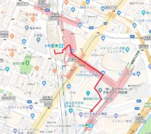 パークホテル東京へのアクセス方法